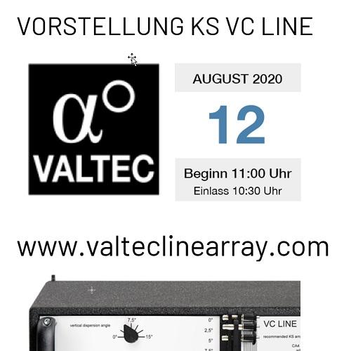 Einladung Vorstellung KS VC Line Array 12.8.